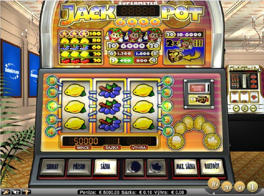 Hrací automaty Jackpot6000