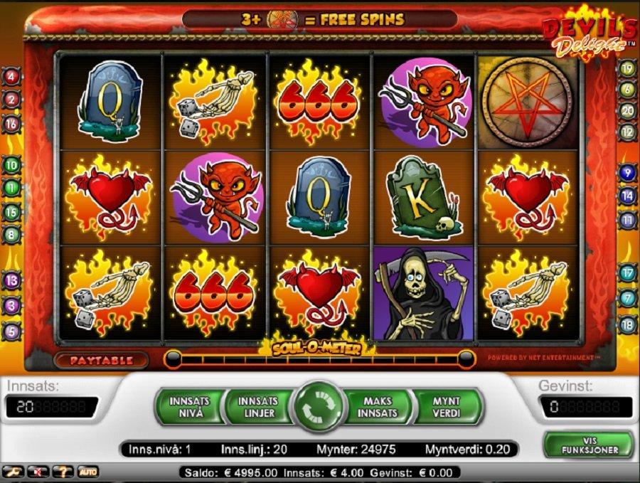 Spilleautomater Devils Delight