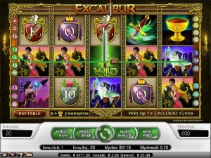 Spilleautomater Excalibur