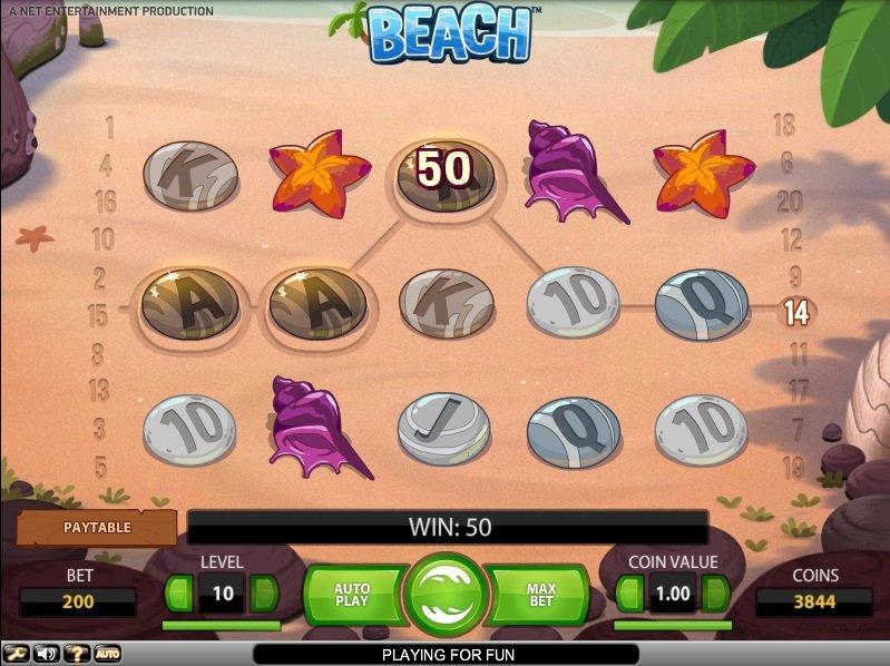 Hrací automat Beach