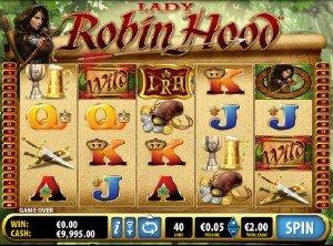 Hrací automat Lady Robin Hood