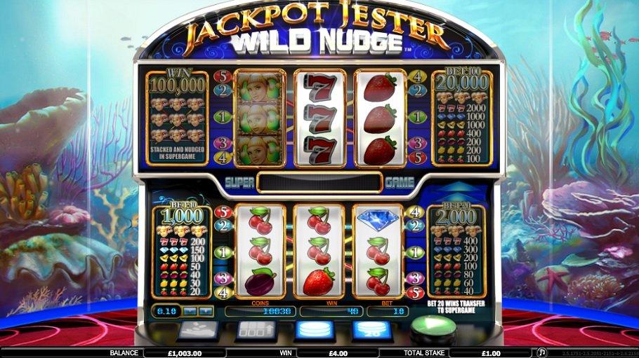 Jackpot Jester Wild Nudge výherné automaty