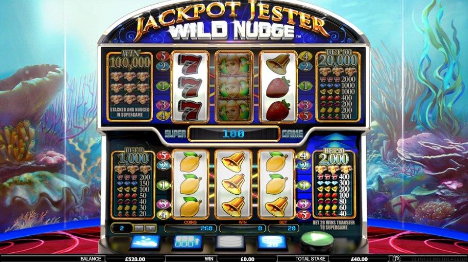 Jackpot Jester Wild Nudge Norske spilleautomater