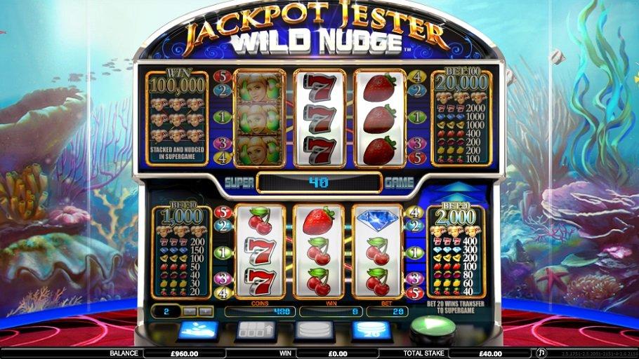 Výherní automaty Jackpot Jester Wild Nudge