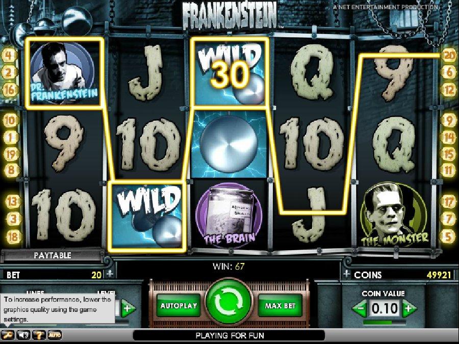 Hrací automaty Frankenstein zdarma