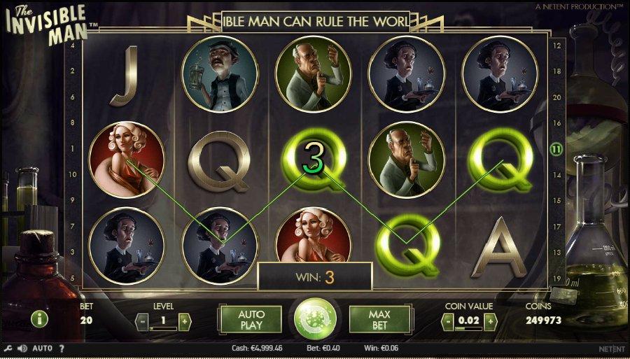Hrací automaty Invisible Man zdarma