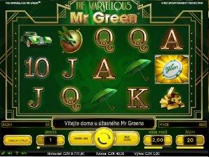 Hrací automaty Marvellous Mr Green zdarma