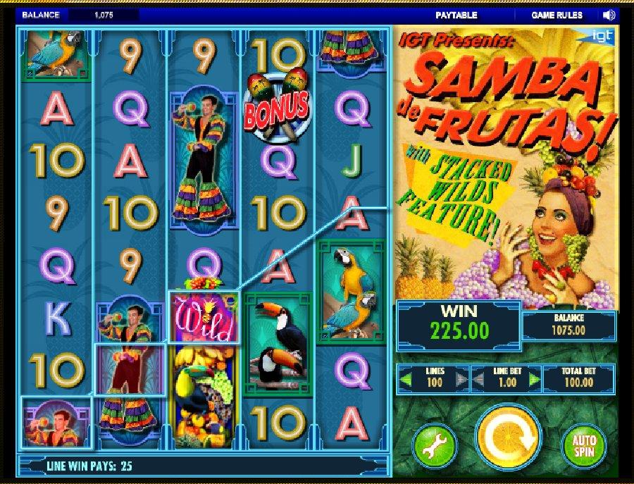 Hrací automaty Samba de Frutas zdarma