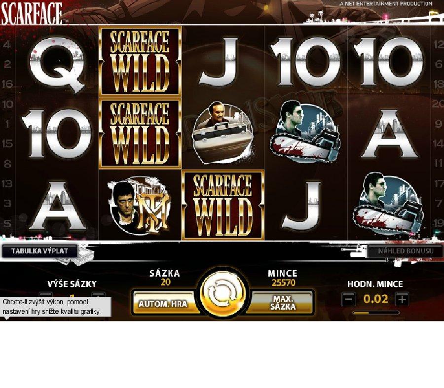 Hrací automaty Scarface