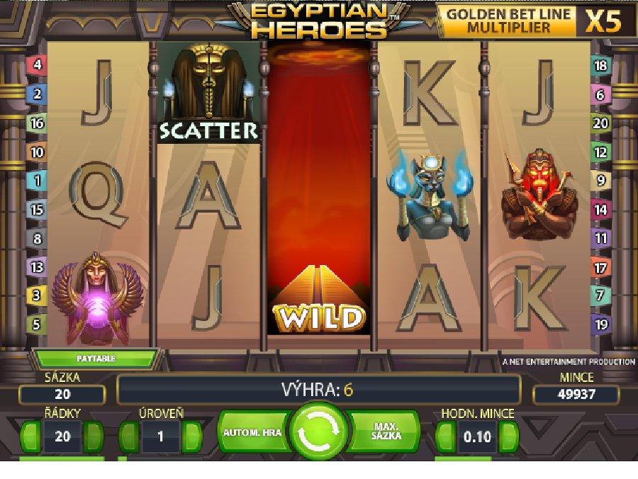Automatové hry Egyptian Heroes