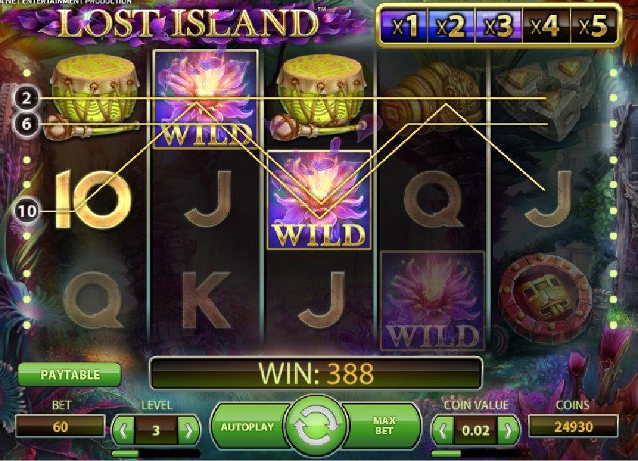 Hrací automaty Lost Island