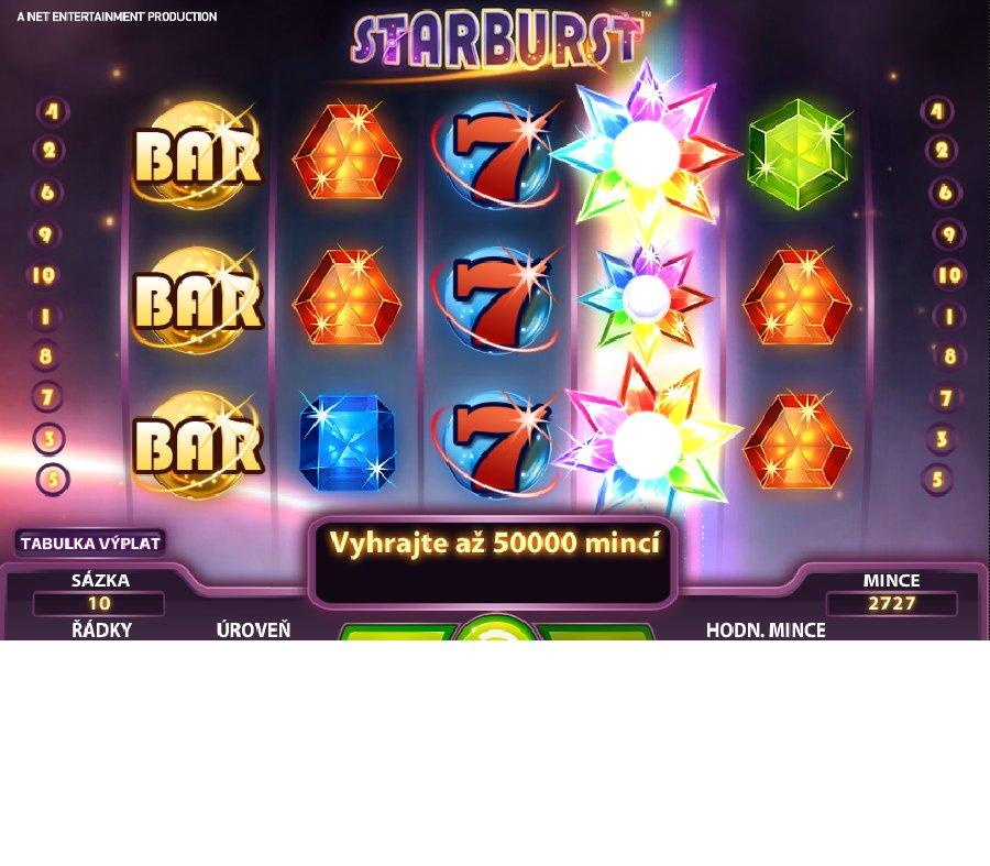 Hrací automaty Starburst