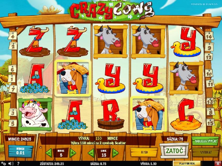 Hrací automaty Crazy Cows