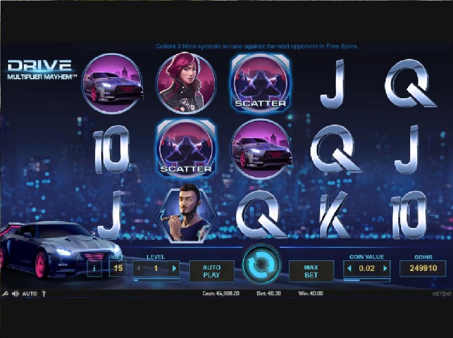 Hrací automaty Drive: Multiplier Mayhem