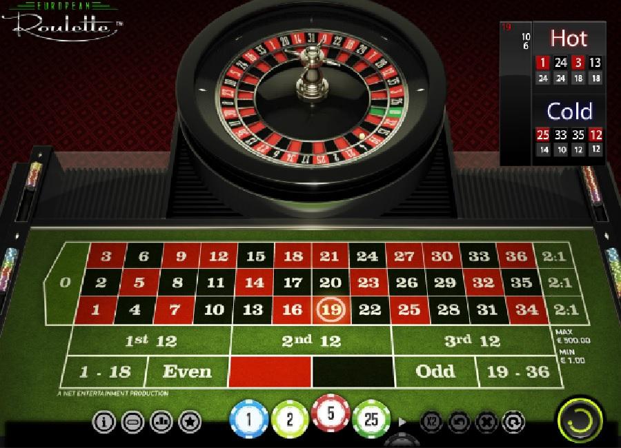 Hrací automaty Evropská ruleta