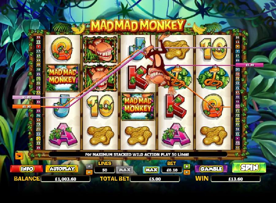 Hrací automaty Mad Mad Monkey