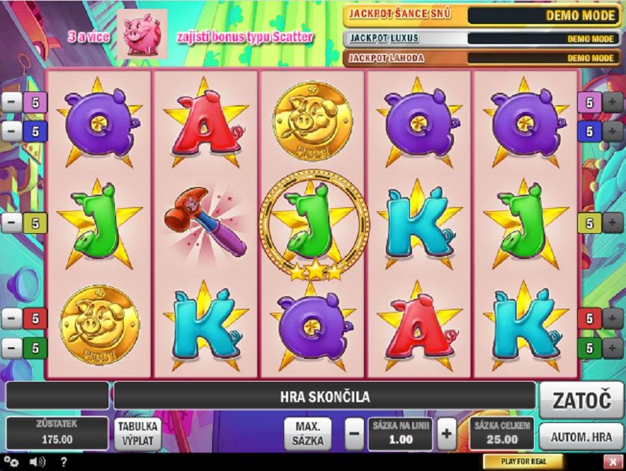 Výherné hracie Automaty Piggy Bank