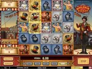 Výherní hrací automaty Golden ticket