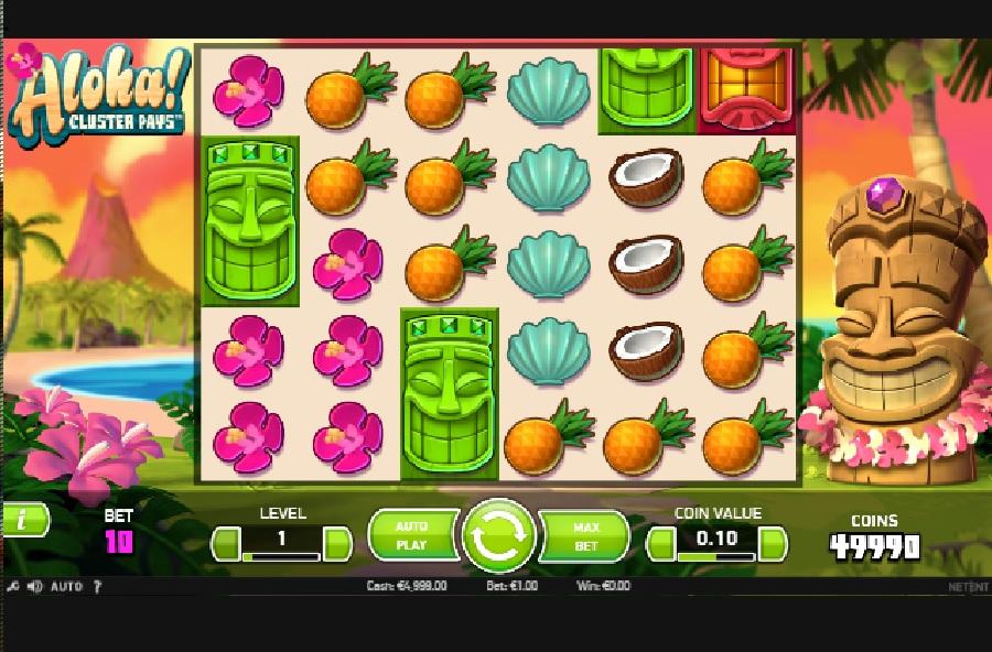 Automatová hra Aloha Cluster Pays