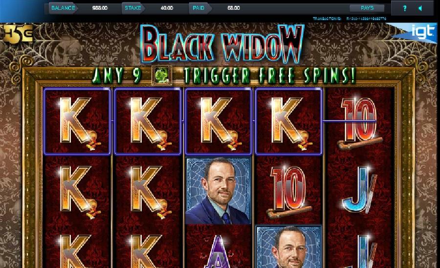Black Widow výherní automat