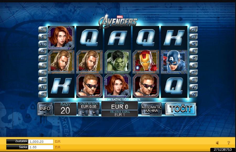 Online herní automat Avengers