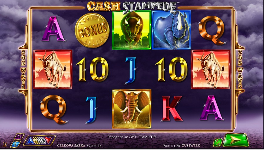 Cash Stampede online herní automat