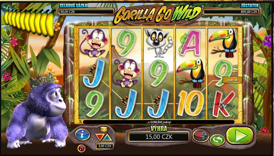 Gorilla go Wild herní automat