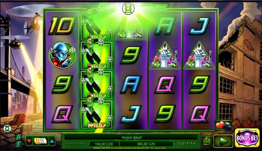 Herní automat Green Lantern