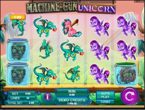 Online výherní automat Machine gun Unicorn