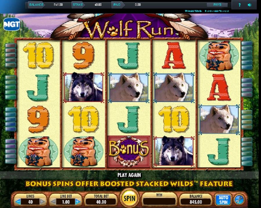 Výherní automat Wolf run online