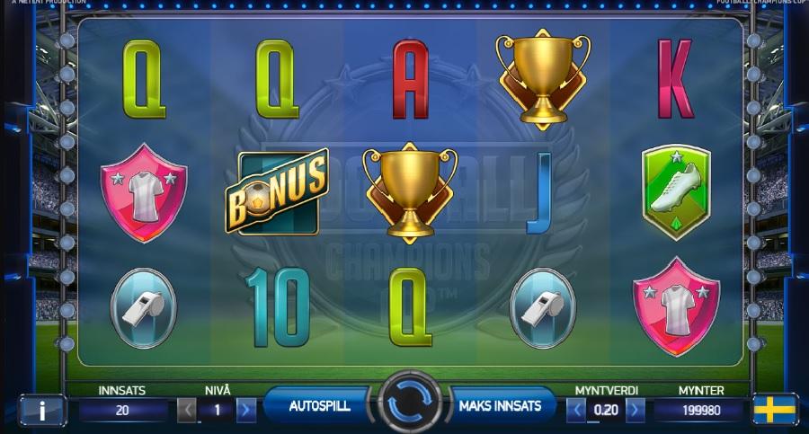 Fotball-EM spilleautomaten