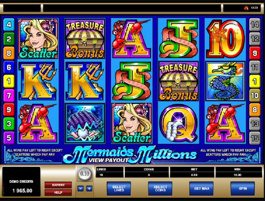 Výherní online automat Mermaids Millions