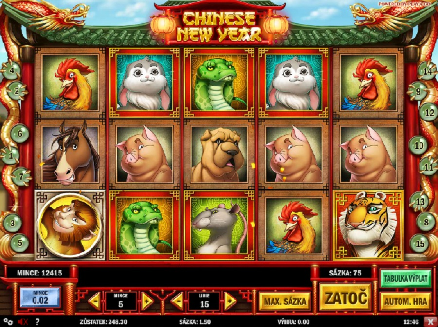 Chinese new year automatová hra