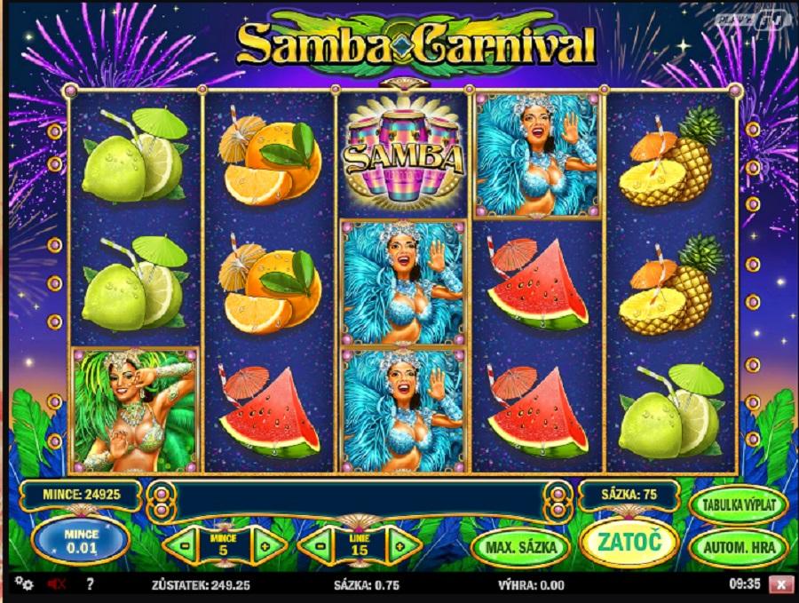 Samba Carnival zdarma automat