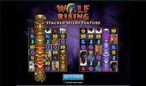 Wolf Rising online kasino spillet