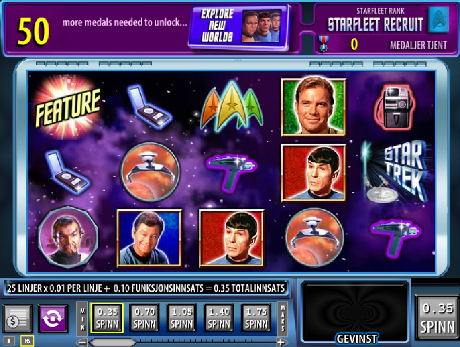 Star Trek: Red Alert online slotmaskiner