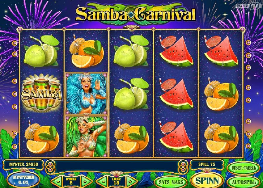 Samba Carnival online slotmaskiner