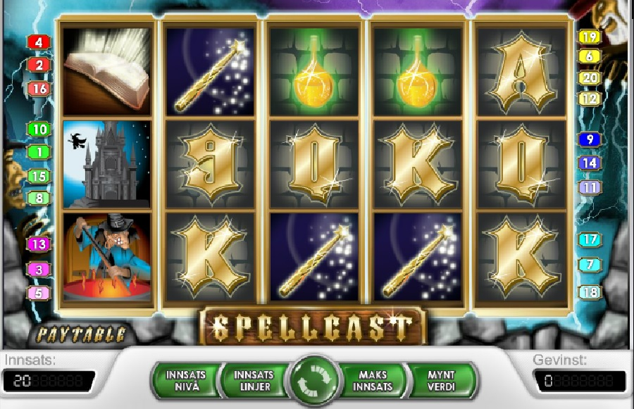 Spilleautomaten Spellcast