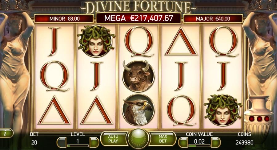 Divine Fortune kasíno hry