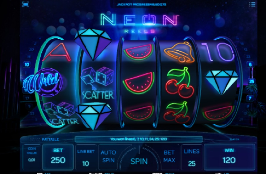 Neon Reels video automaty zdarma