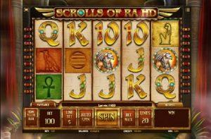 Scrolls of Ra norske spilleautomater