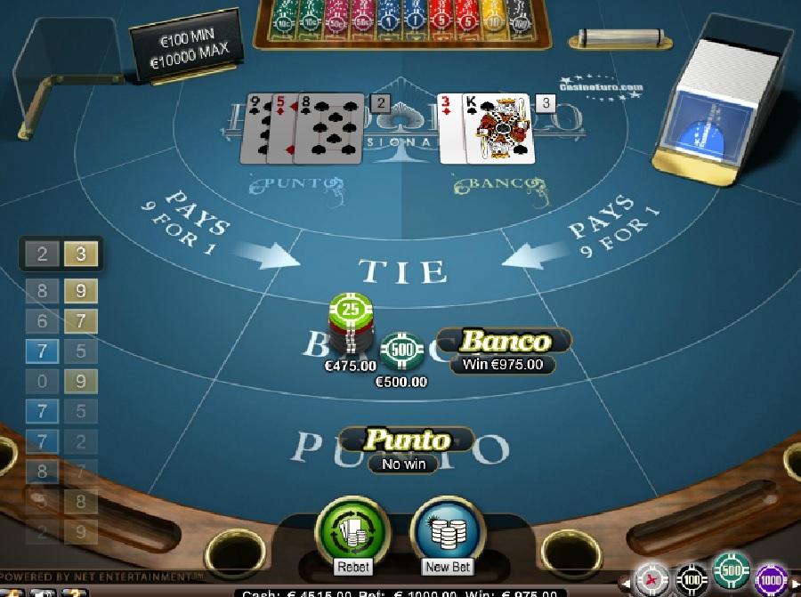 Punto Banco VIP bordspill gratis