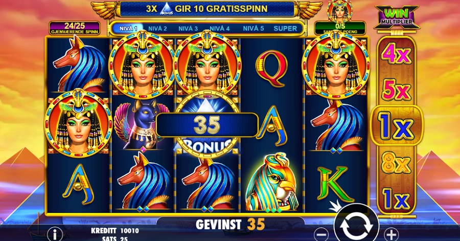 Norgesautomaten gratis Queen of Gold