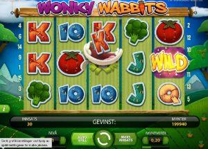 Norgesautomaten gratis spill Wonky Wabbits