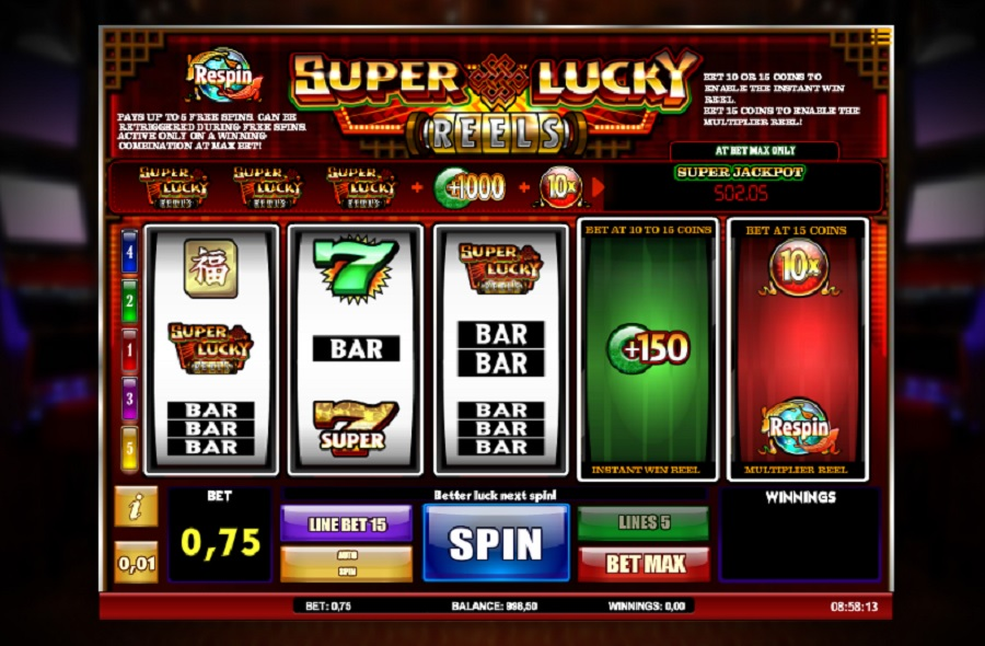 Super lucky Reels Casino Slot