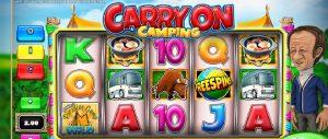 Prøv din lykke på Carry On Camping