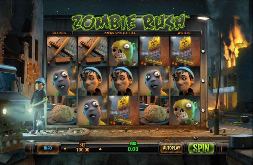 Zombie Rush Deluxe Online Slot