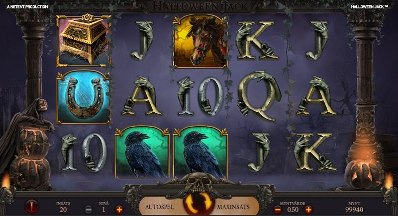 Opplev kalde gufs og skrekkblandet fryd på spilleautomaten Halloween Jack