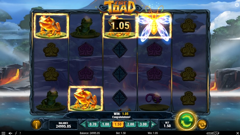 Get ready to bring the heat with Fire Toad